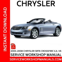 Chrysler Crossfire SRT6 3.2L V6 2005-2008 Service Workshop Manual