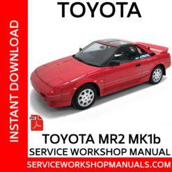 Toyota MR2 MK1 Service Workshop Manual