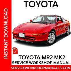 Toyota MR2 MK2 Service Workshop Manual