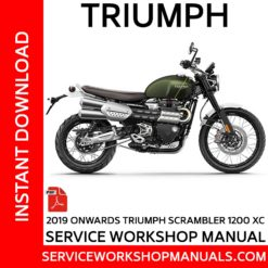Triumph Scrambler 1200 XC 2019 Onwards Service Workshop Manual