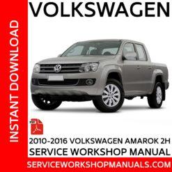 Volkswagen Amarok 2H 2010-2016 Service Workshop Manual