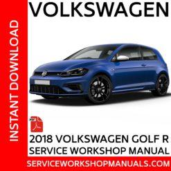 Volkswagen Golf R 2018 Service Workshop Manual