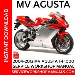 MV Agusta F4 1000 2004-2012 Service Workshop ManualMV Agusta F4 1000 2004-2012 Service Workshop Manual