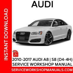 Audi A8 | S8 (D4-4H) 2010-2017 Service Workshop Manual
