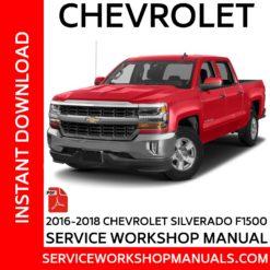 Chevrolet Silverado F1500 2016-2018 Service Workshop Manual