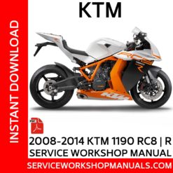 KTM 1190 RC8 | R 2008-2014 Service Workshop Manual