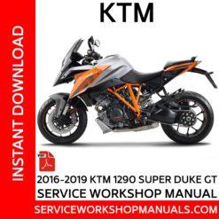 KTM 1290 Super Duke GT 2016-2019 Service Workshop Manual