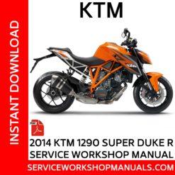 KTM 1290 Super Duke R 2014 Service Workshop Manual