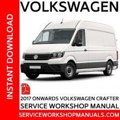 Volkswagen Crafter | MAN TGE 2017 Onwards Service Workshop Manual