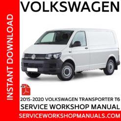 Volkswagen Transporter T6 2015-2020 Service Workshop ManualVolkswagen Transporter T6 2015-2020 Service Workshop Manual