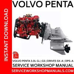 Volvo Penta 3.0L GL, GS + SX-A - DPS-A Drives Service Workshop Manual