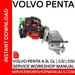 Volvo Penta 4.3L GL, GSi, OSi, Service Workshop Manual