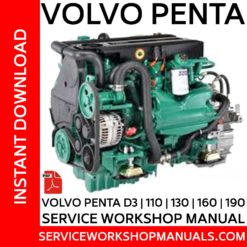 Volvo Penta D3-110, 130, 160, 190 Service Workshop Manual
