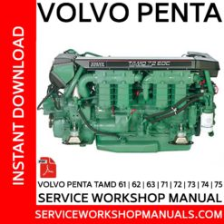 Volvo Penta TAMD 61, 62, 63, 71, 72, 73, 74, 75 Service Workshop Manual