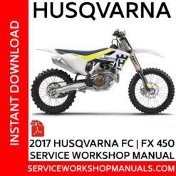 Husqvarna FC | FX 450 2017 Service Workshop Manual