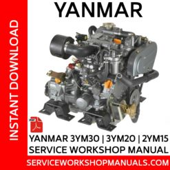Yanmar 3YM30 | 3YM20 | 2YM15 Service Workshop Manual