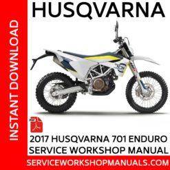 Husqvarna 701 Enduro 2016 Service Workshop Manual