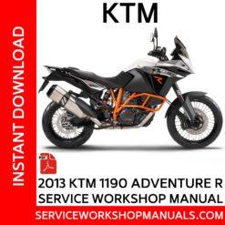 KTM 1190 Adventure R 2013 Service Workshop Manual