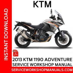 KTM 1190 Adventure 2013 Service Workshop Manual