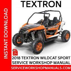 Textron Wildcat Sport 2018 Service Workshop Manual