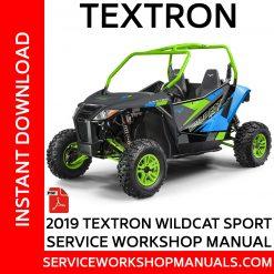 Textron Wildcat Sport 2019 Service Workshop Manual