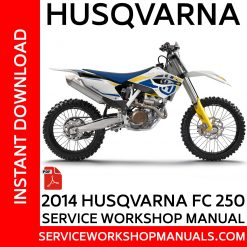 Husqvarna FC 250 2014 Service Workshop Manual