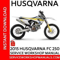 Husqvarna FC 250 2015 Service Workshop Manual