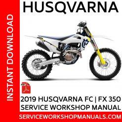 Husqvarna FC | FX 350 2019 Service Workshop Manual