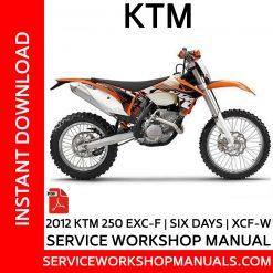 KTM 250 EXC-F | Six Days | XCF-W 2012 Service Workshop Manual