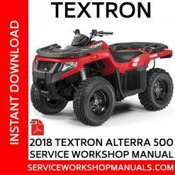 Textron Alterra 500 2018 Service Workshop Manual
