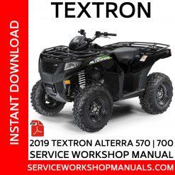 Textron Alterra 570 | 700 2019 Service Workshop Manual