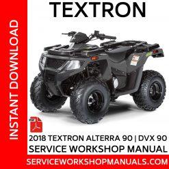 Textron Alterra 90 | DVX 90 2018 Service Workshop Manual