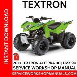 Textron Alterra 90 | DVX 90 2019 Service Workshop Manual