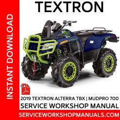 Textron Alterra TBX | MudPro 700 2019 Service Workshop Manual