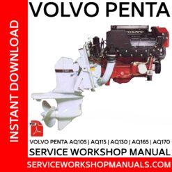 Volvo Penta AQ105, AQ115, AQ130, AQ165, AQ170 Service Workshop Manual