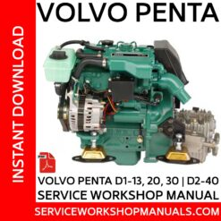 Volvo Penta D1-13, 20, 30 | D2-40 Service Workshop Manual