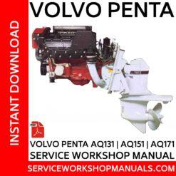 Volvo Penta AQ131 | AQ151 | AQ171 Service Workshop Manual