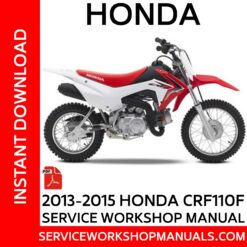 Honda CRF110F 2013 2014 2015 Service Workshop Manual