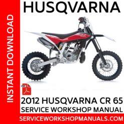 Husqvarna CR 65 2012 Service Workshop Manual