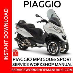 Piaggio MP3 500ie Sport Service Workshop Manual