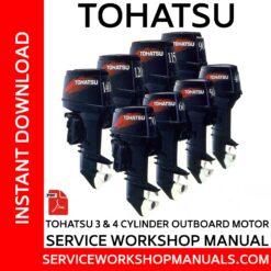 Tohatsu 3 & 4 Cylinder Outboard Motor Service Workshop Manual