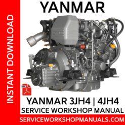 Yanmar 3JH4 | 4JH4 Service Workshop Manual
