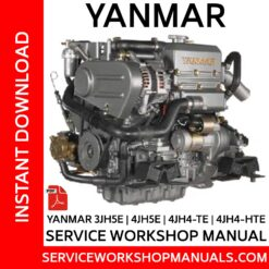 Yanmar 3JH5E, 4JH5E, 4JH4-TE, 4JH4-HTE Service Workshop Manual