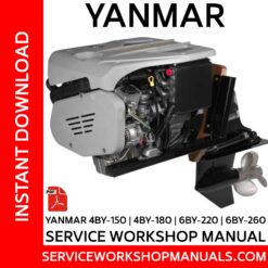 Yanmar 4BY-150 | 4BY-180 | 6BY-220 | 6BY-260 Service Workshop Manual