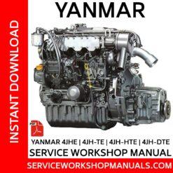 Yanmar 4JHE | 4JH-TE | 4JH-HTE | 4JH-DTE Service Workshop Manual