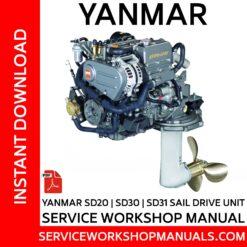 Yanmar SD20 | SD30 | SD31 Sail Drive Unit Service Workshop Manual